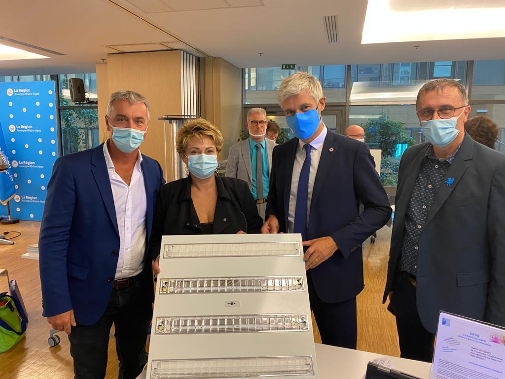 Lutte contre la Covid-19 : l'OPTIMO UV-C LEDIZ® retenu par la Région Auvergne-Rhône-Alpes comme solution de désinfection pour les lycées