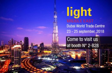 LIGHT MIDDLE EAST 2018: see you in Dubai from 23-25 September