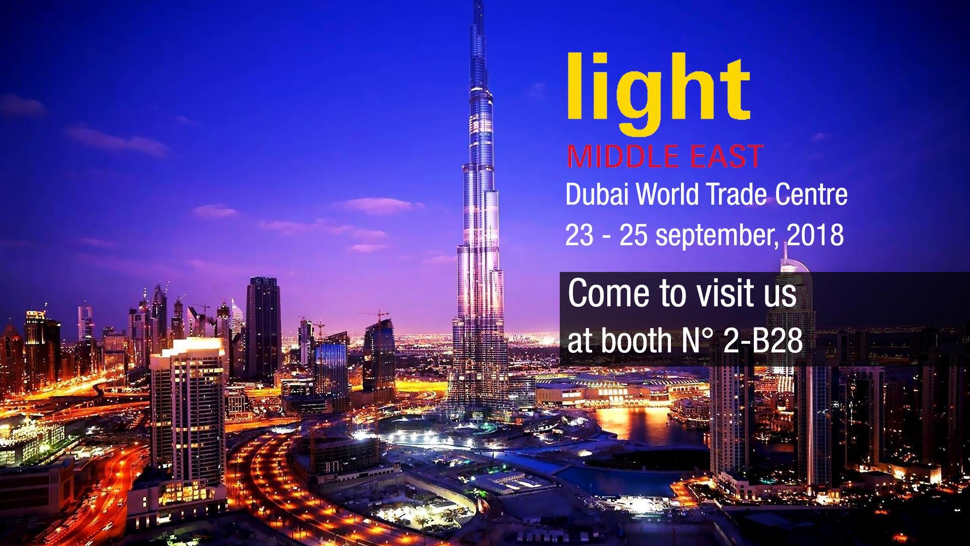 Light Middle East 2018 : rendez-vous à Dubai du 23 au 25 septembre