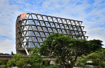 Custom LED panels designed for GSK's new Asia headquarters in Singapore