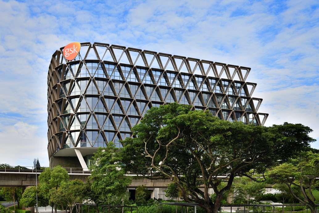 Dalles LED sur mesure pour le nouveau siège social Asie de GSK à Singapour